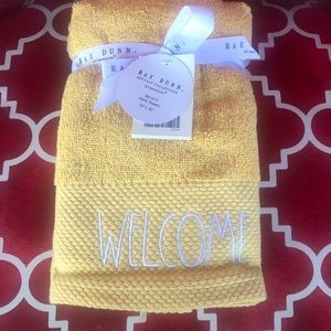 """NEW Rae Dunn Hand Towels """"Welcome"""" 🤩"""